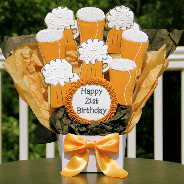 Happy 21st Birthday Beer Cookie Bouquet @ Cookie Bouquets