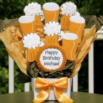 Birthday Cookie Bouquet - Beer Mugs