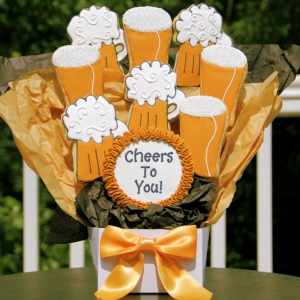 Cheers To You Beer Themed Cookie Gram image