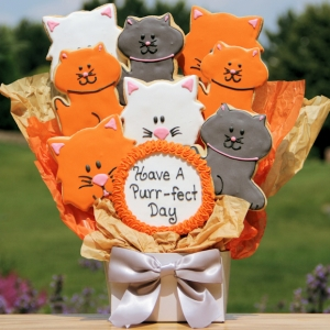 Have a Purrfect Day Kitten Cookie Bouquet image