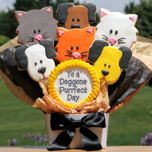 Doggone Purrfect Day Cat & Dog Cookie Bouquet image