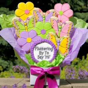 Fluttering By To Say Hi Butterfly Cookie Arrangement image