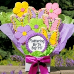 Fluttering By To Say Hi Butterfly Cookie Arrangement