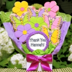 Thank You Cookie Bouquet - Flowers & Butterflies