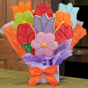 Lovely Flowers Cookie Bouquet image