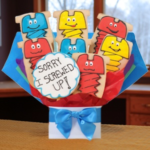 Sorry I Screwed Up Cookie Bouquet image