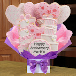 Wedding Anniversary Iced Cookie Bouquet