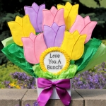 Love You A Bunch Bouquet of Tulip Cookies