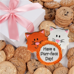 Cat Themed Cookie Box Gift image