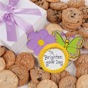 Flower & Butterfly Cookie Gift Box image