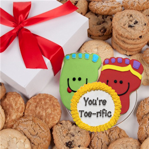 You're Toe-rific Box of Cookies image