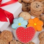 Daisies and Hearts Gourmet Cookie Gift Box