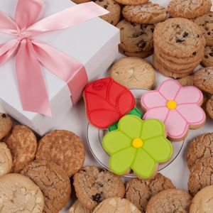Daisies and Roses Gourmet Cookie Gift Box image
