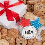 Patriotic Gourmet Cookies Gift Box
