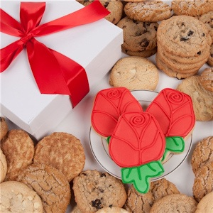 Red Roses Gourmet Cookie Gift Box image