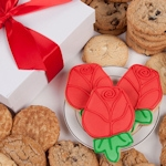 Red Roses Gourmet Cookie Gift Box