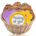 Cookie Gift Basket - Heart & Flower