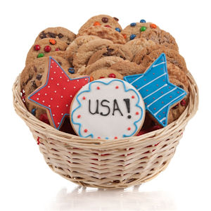 Patriotic Cookie Gift Basket image