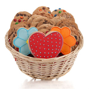 Daisies & Hearts Cookie Gift Basket image