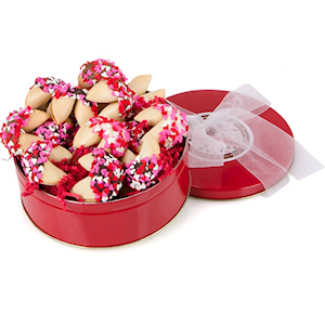 Heart Sprinkles Gourmet Fortune Cookie Tin image
