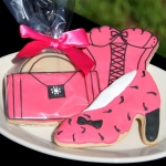 Stylish Hot Pink & Black Cookie Favors (3 Designs)