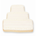 Elegant White Wedding Cake Cookie Favor