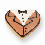 Tuxedo Heart Cookie Favor