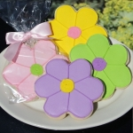 Colorful Daisy Flower Cookie Favors (4 Colors)