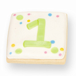 Personalized Number Cookie Favor