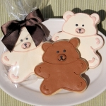 Teddy Bear Cookie Favors (2 Colors)