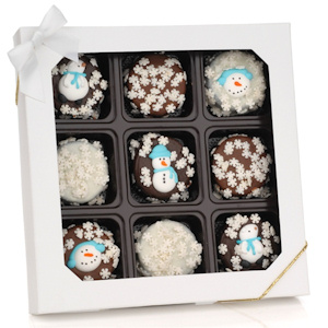 Winter Holiday Chocolate Dipped Oreos Gift image