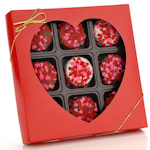 Heart Sprinkled Chocolate Dipped Oreo Gift Box