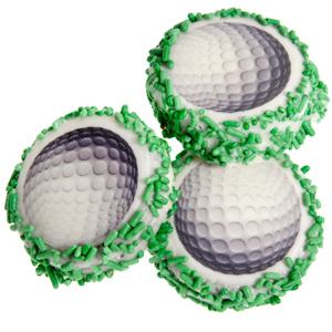 Golf Ball Chocolate Oreos - Individually Wrapped image