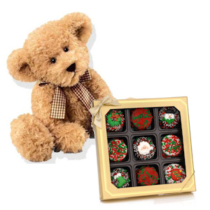 Christmas Decorated Oreo Box & Teddy Bear image