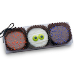 Clear Acrylic Gift Box of 3 Spooky Halloween Oreos