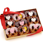 Valentine's Day Chocolate Dipped Pretzel Twist Gift Box