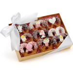 Wedding Chocolate Pretzel Twists - Box of 9