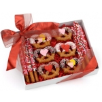 Romantic Dipped Pretzel Wands and Twists Gift Box