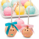 New Baby Edible Cake Pop Shower Favors