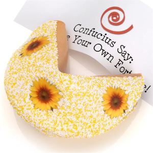 Sunflower Big Fortune Cookie image