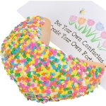 Confetti Flowers Giant Fortune Cookie
