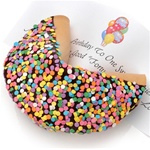 Personalized Confetti Dipped Big Fortune Cookie