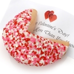 Heart Sprinkles Giant Fortune Cookie