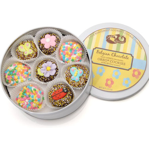 Spring Butterflies & Flowers Oreo Tin image