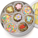 Spring Butterflies & Flowers Oreo Tin