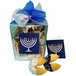 Hanukkah Take Out Pail of 6 Fortune Cookies