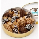 Classic Wheel of Chocolate Dipped Fortune Cookies