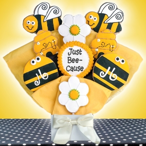 Just Bee-Cause Iced Cookie Bouquet image