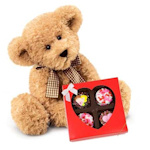 Stuffed Bear with Sweetheart Oreo Gift Box