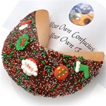 Giant Christmas Fortune Cookie